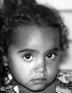 Cherbourg - Queensland,,,, Beautiful grandchild the resident:  was in the day care centre next door....