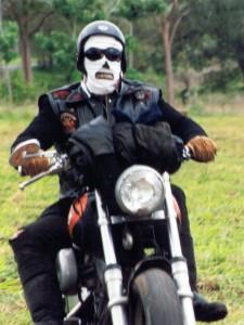 Suncreen Masked biker